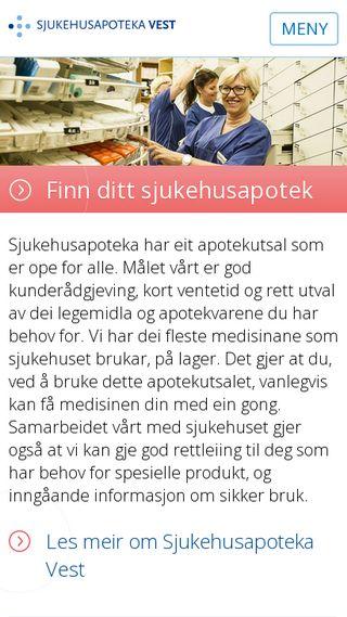 Mobile preview of sjukehusapoteka-vest.no