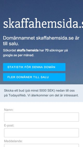 Mobile preview of skaffahemsida.se