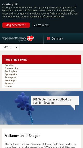 Mobile preview of skagen-tourist.dk
