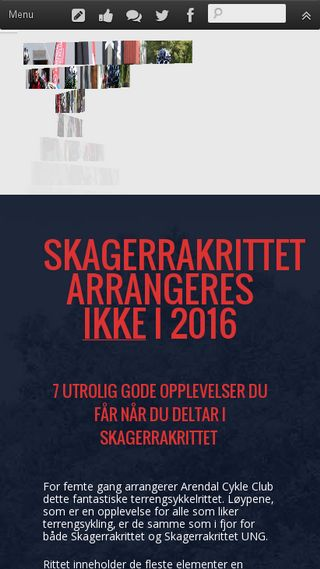 Mobile preview of skagerrakrittet.no