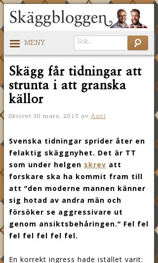 Mobile preview of skaggbloggen.se