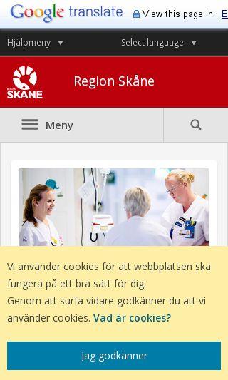 Mobile preview of skane.se