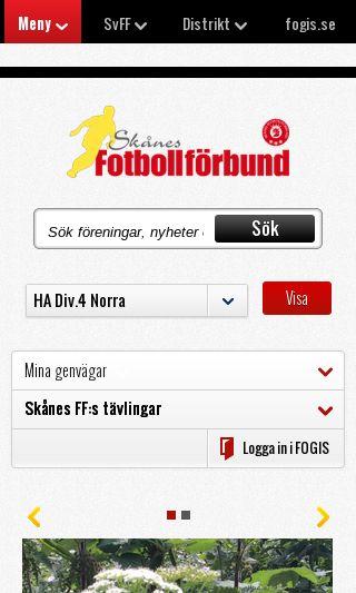 Mobile preview of skaneboll.se