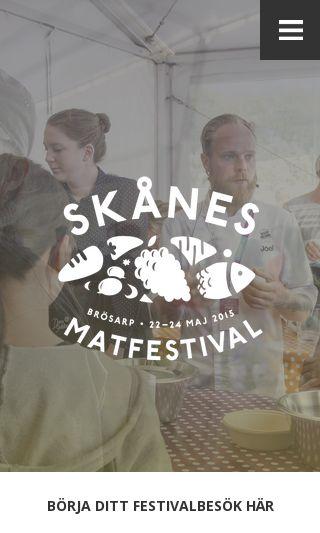 Mobile preview of skanesmatfestival.se