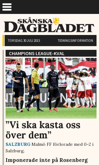 Mobile preview of skanskan.se