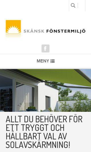 Mobile preview of skanskfonstermiljo.se