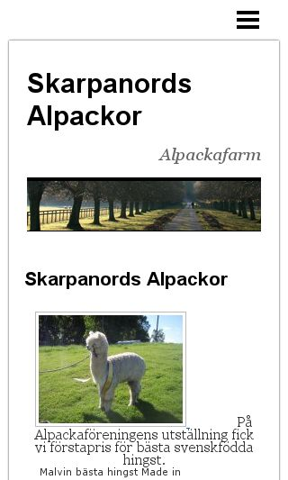 Mobile preview of skarpanordsalpackor.se