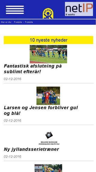 Mobile preview of skive-ik.dk