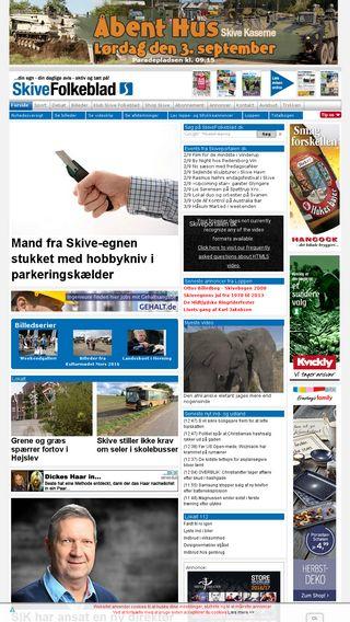 Mobile preview of skivefolkeblad.dk