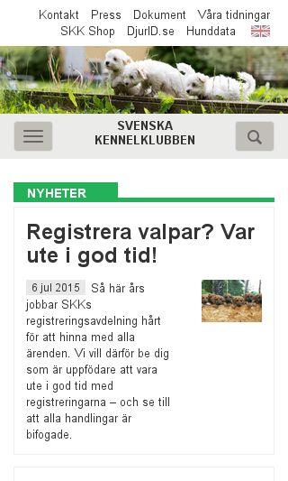 Mobile preview of skk.se