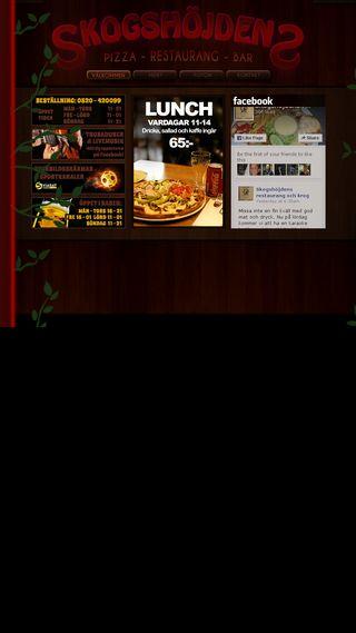 Mobile preview of skogshojdenspizza.se