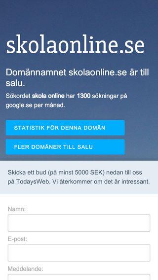 Mobile preview of skolaonline.se