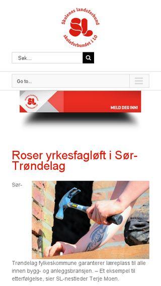 Mobile preview of skoleneslandsforbund.no