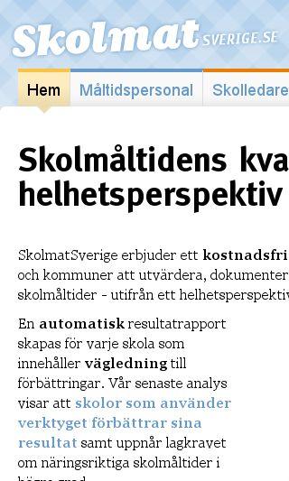 Mobile preview of skolmatsverige.se