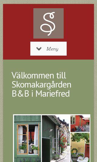 Mobile preview of skomakargarden.se
