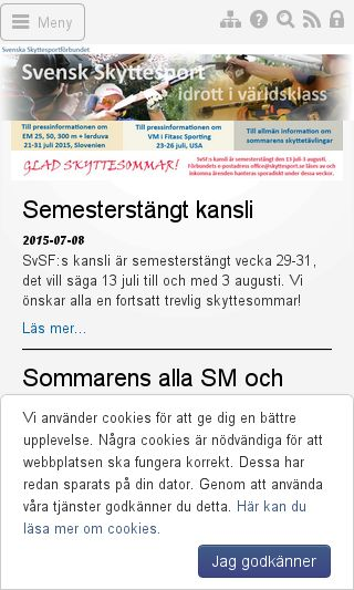 Mobile preview of skyttesport.se