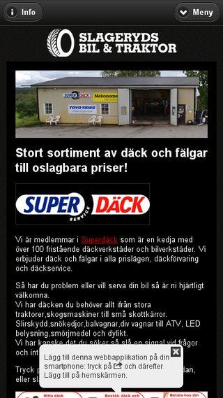 Mobile preview of slageryds.se