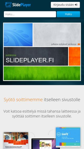 Mobile preview of slideplayer.fi