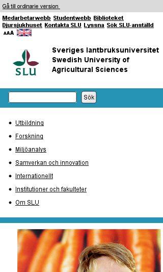 Mobile preview of slu.se