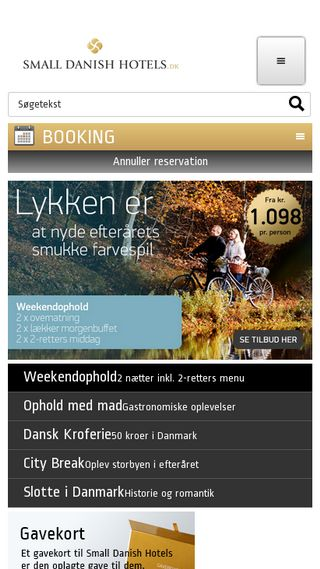 Mobile preview of smalldanishhotels.dk