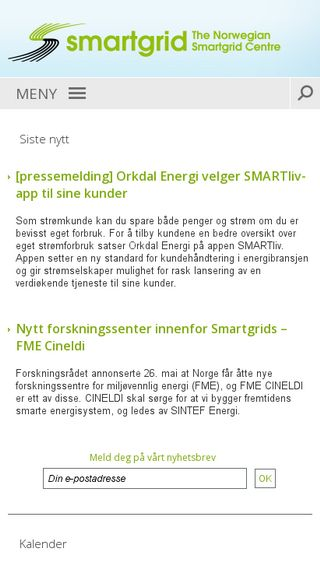 Mobile preview of smartgrids.no