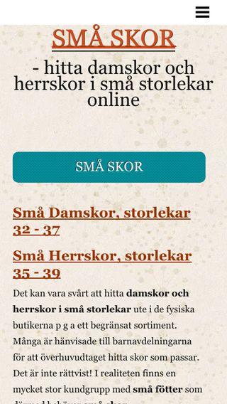 Mobile preview of smaskor.se