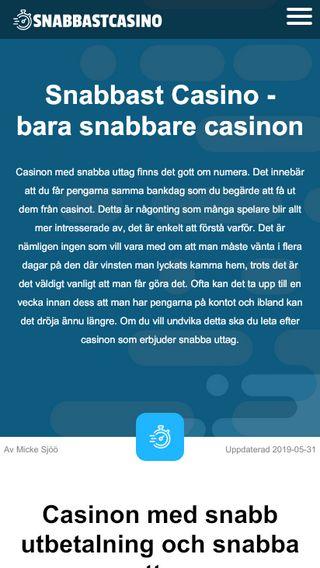 Mobile preview of snabbastcasino.se