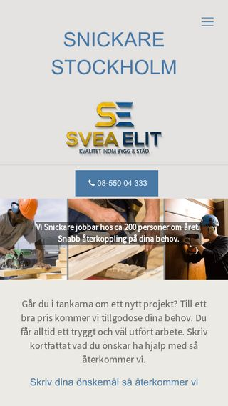 Mobile preview of snickarnaistockholm.se
