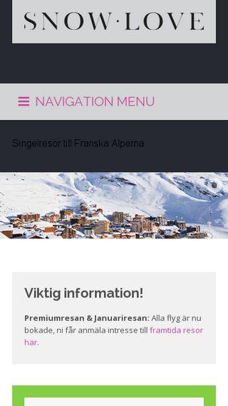 Mobile preview of snowlove.se