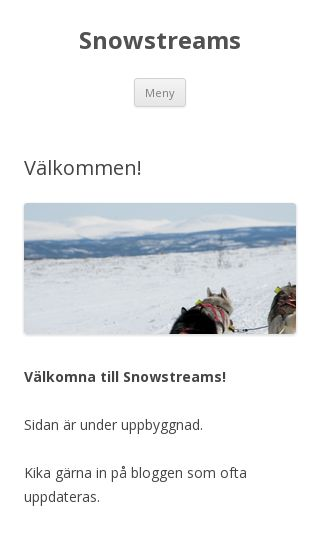 Mobile preview of snowstreams.se