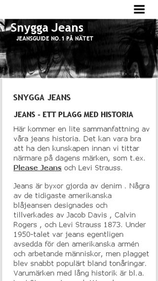 Mobile preview of snyggajeans.n.nu