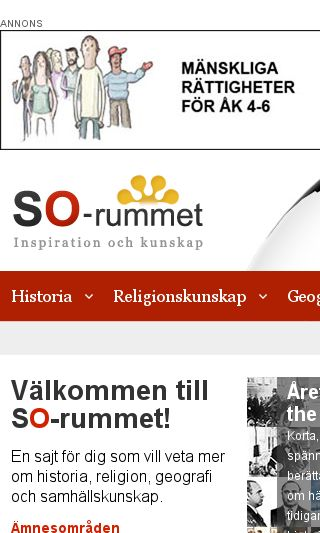 Mobile preview of so-rummet.se