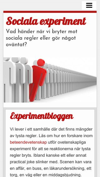 Mobile preview of socialaexperiment.se