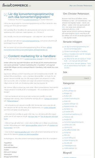 Mobile preview of socialcommerce.se