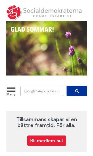 Mobile preview of socialdemokraterna.se