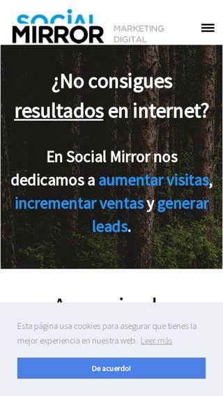 Mobile preview of socialmirror.es