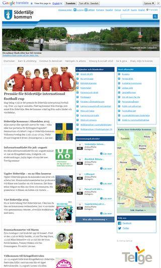 Mobile preview of sodertalje.se