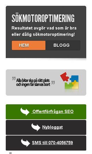 Mobile preview of soekmotoroptimering.se