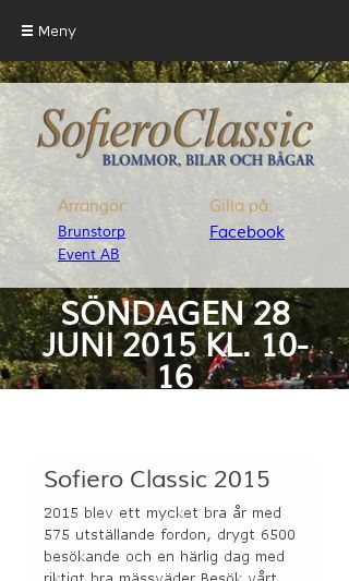 Mobile preview of sofieroclassic.se