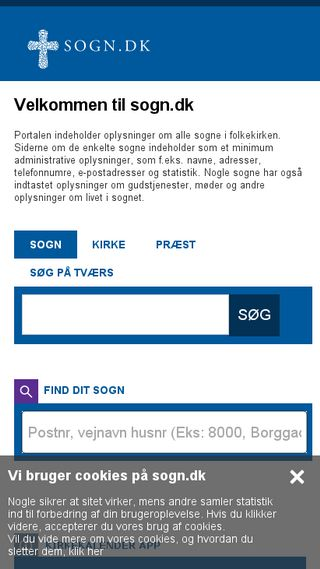 Mobile preview of sogn.dk