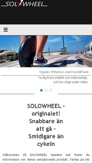 Mobile preview of solowheel-sweden.se