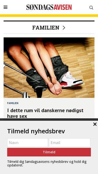 Mobile preview of sondagsavisen.dk