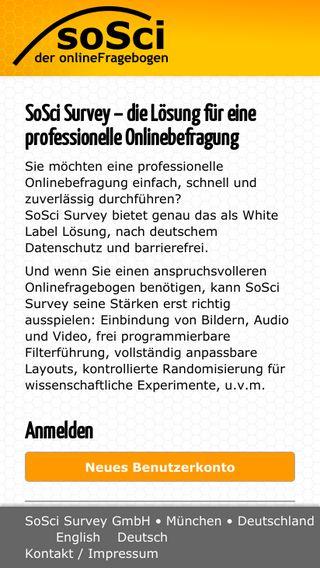 Mobile preview of soscisurvey.de