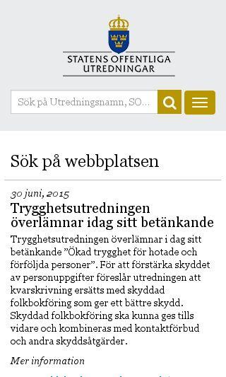 Mobile preview of sou.gov.se
