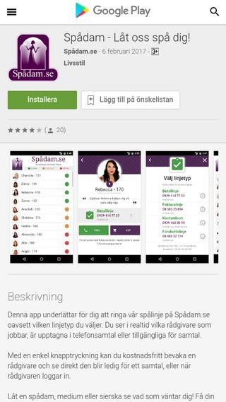 Mobile preview of spadam.se