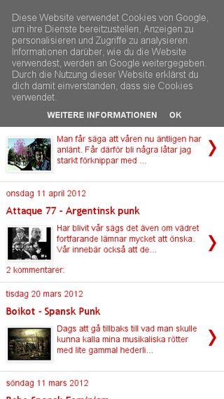 Mobile preview of spanskmusik.blogspot.com