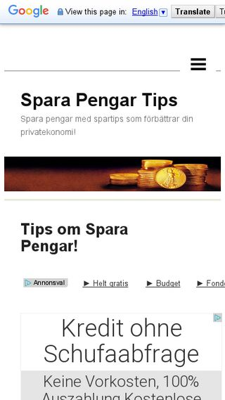 Mobile preview of sparapengartips.n.nu