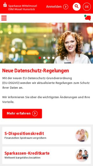 Mobile preview of sparkasse-emh.de