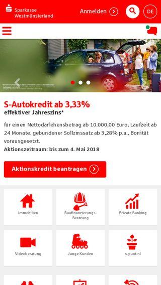 Mobile preview of sparkasse-westmuensterland.de