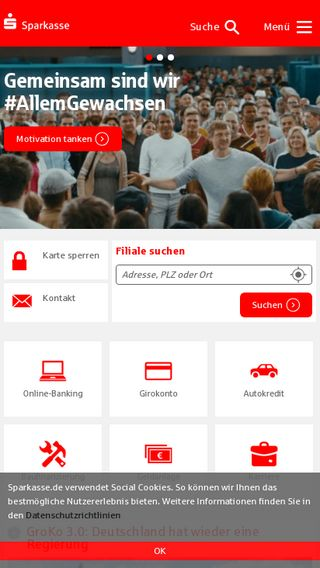 Mobile preview of sparkasse.de